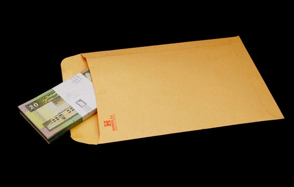 black background money envelope template