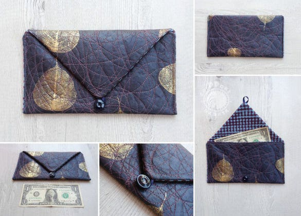 handmade money envelope template download