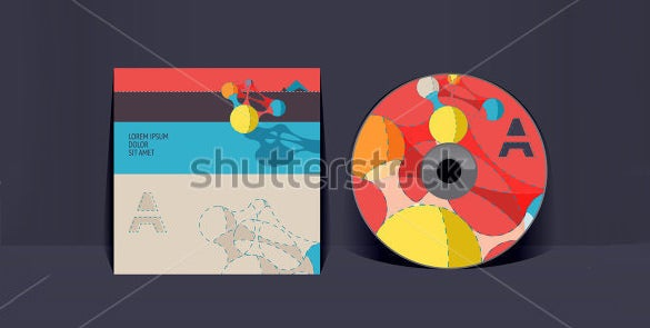 colourful cd envelope template download