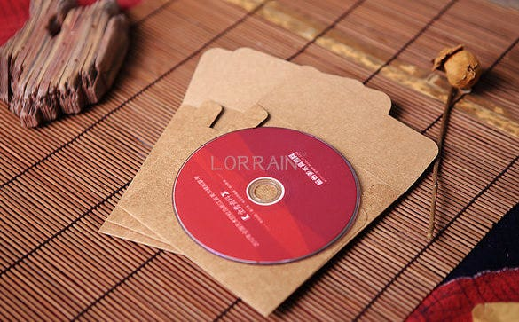 cute cd envelope template download