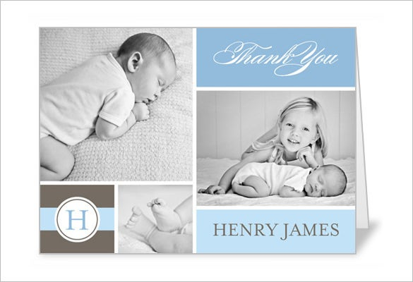 3x5 sweet gallery boy thank you card