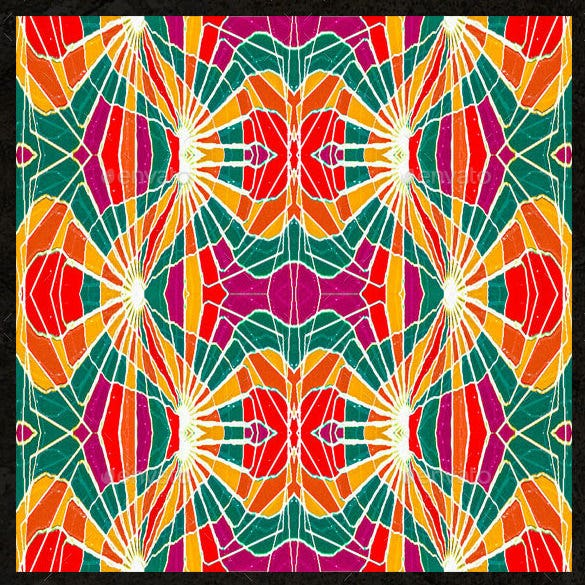5 multicolored seamless geometric patterns