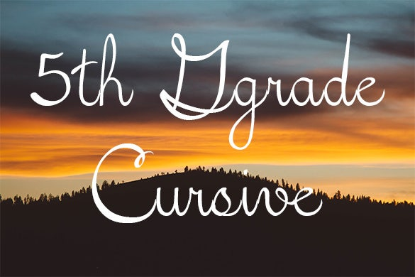 5th grade cursive