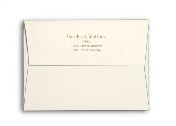 5×7 Envelope Template – 13+ Free Printable, Sample, Example ...
