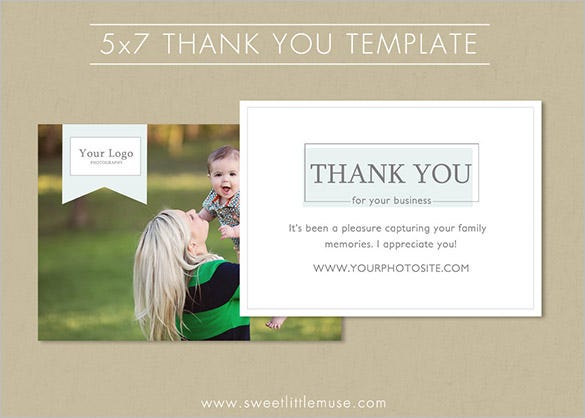5x7 photography thank you card template