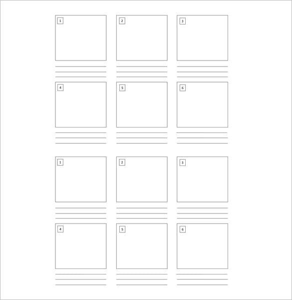 6 Bo Kids Blank Storyboard Template Free Sample