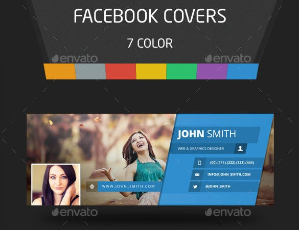 7 color cloth facebook cover template photoshop psd 2