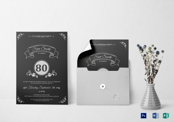 80th birthday party invitation template download1