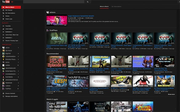 a lights out dark youtube theme