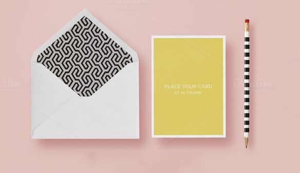 a2 envelope psd template download 9
