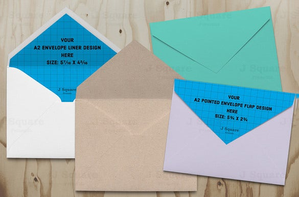 a2 psd envelop template download