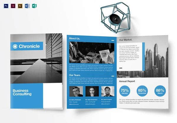 Marketing Consulting Group Brochure Template Design Business - Half fold brochure template free