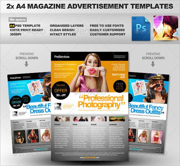 a4 magazine ad template 6