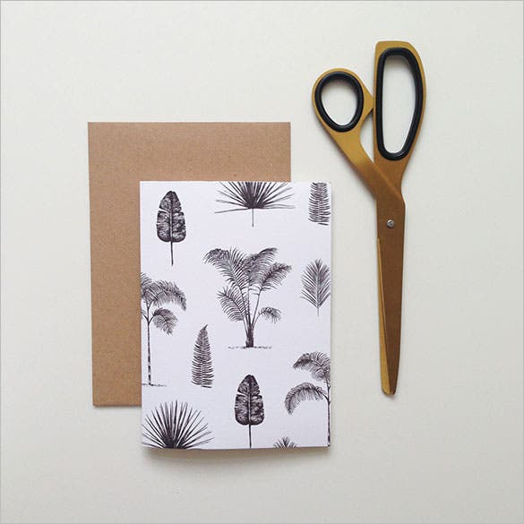 a5 kraft palm card template