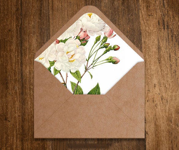 Envelope Liner Template   Free Printable Sample Example