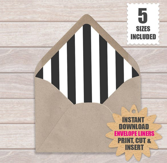 a7 liner envelope template download