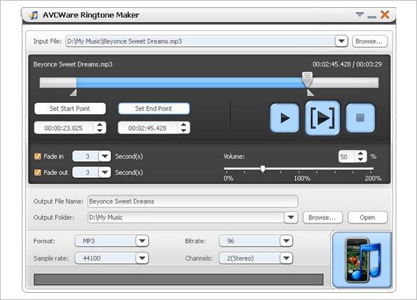 avcware free ringtone maker