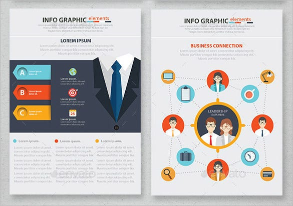 Abstract Business Infographic Design Premium Download