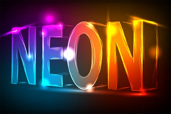 abstract neon text effect tutorial