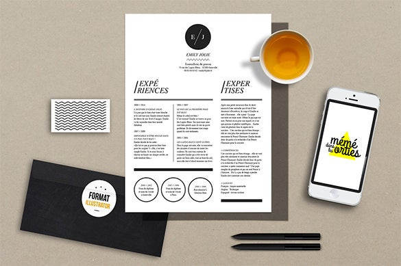 abstract resume illustrator template