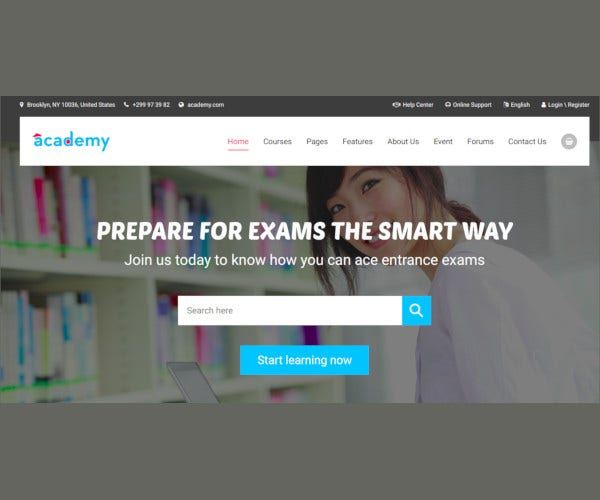 academy education responsive template