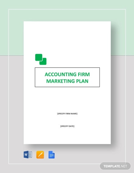 accounting firm marketing plan template