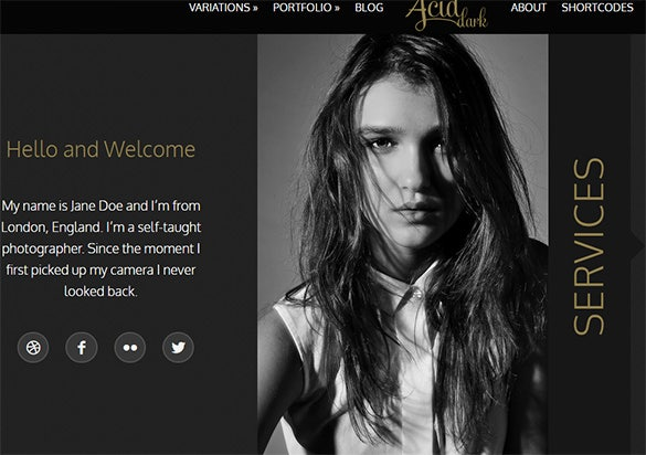 acid unique horizontal blog and portfolio theme