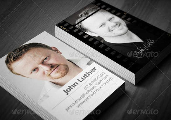 actors calling card template psd design