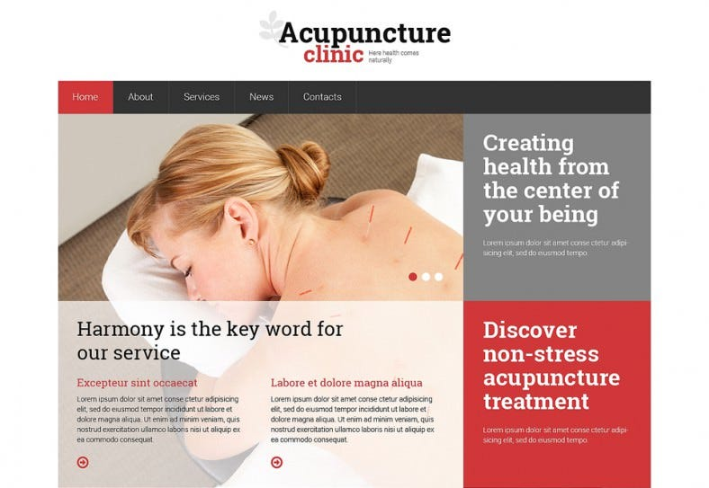 Acupuncture Clinic Responsive Website Template