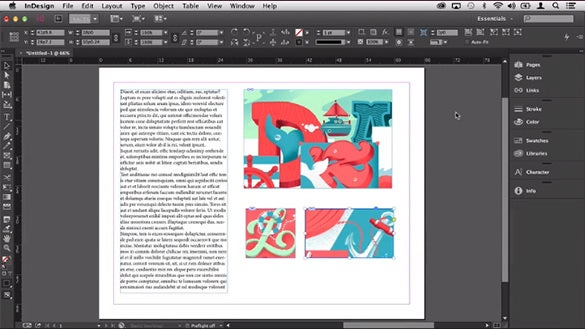 adobe indesign tutorial to work with frames