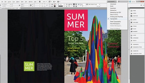 adobe indesign master page tool example