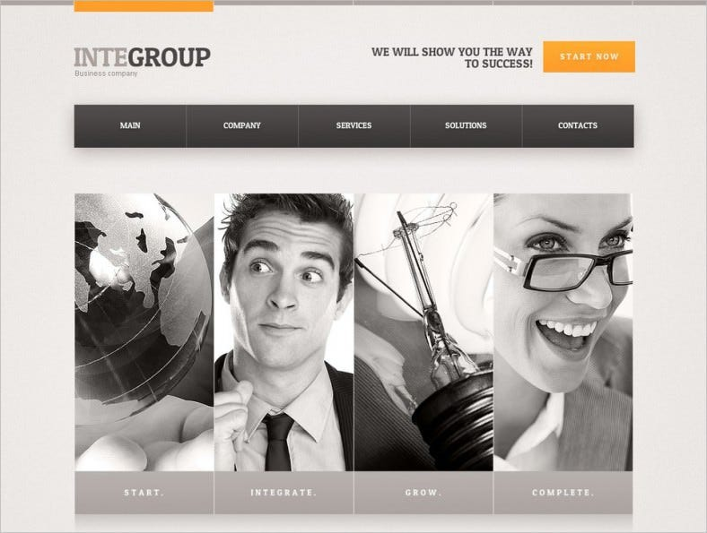 advertising agency business website template 788x595