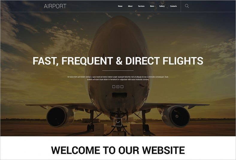 Airport & Flights Joomla Template