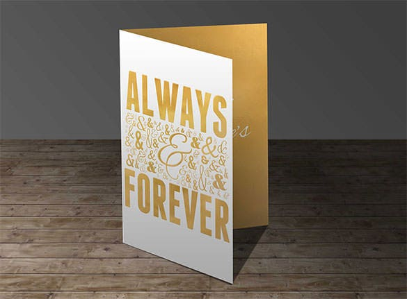 always forever anniversary greeting card template