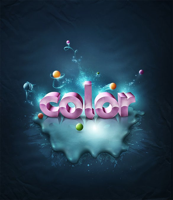 amazing 3d colour text tutorial