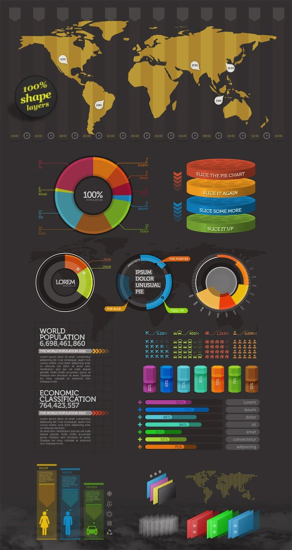 amazing free psd infograhic element