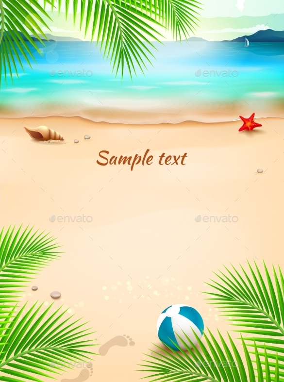 amazing premium summer beach background