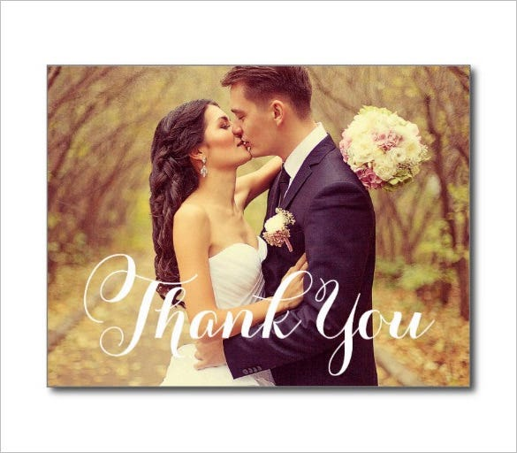 amazing wedding thank you card design
