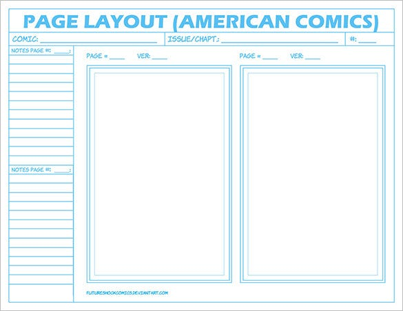 american comic layout page storyboard design