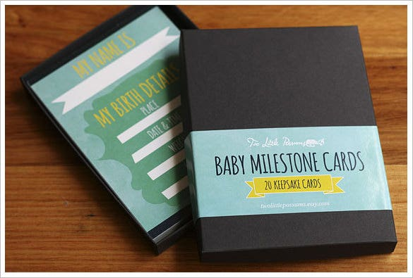 animal baby milestone photo card example