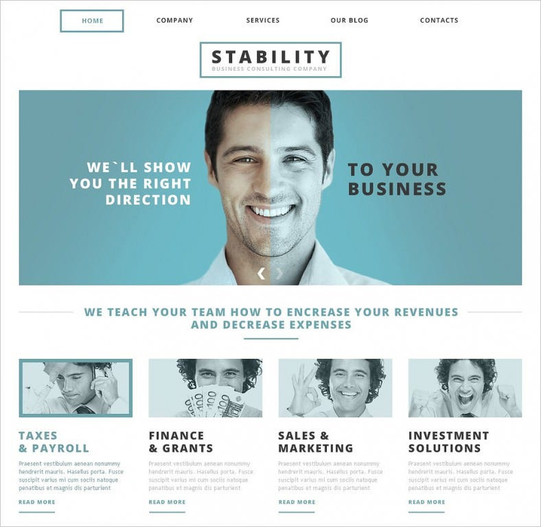Animated Portfolio Business Consulting Joomla Template