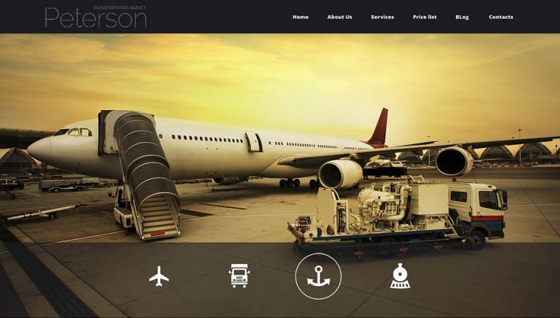 Animated Portfolio Joomla Template for Transportation