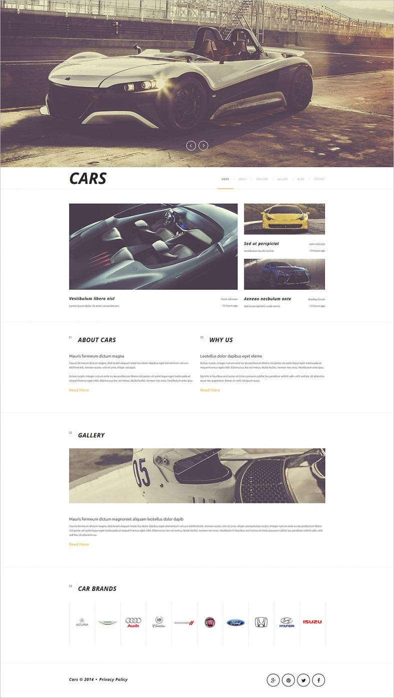 Animated Portfolio Joomla Theme for Luxurious Car Club