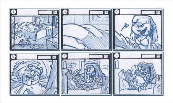 7 animation storyboard templates doc pdf free for Interactive storyboard template