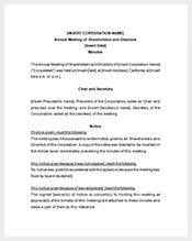 Meeting minutes template 36 free word excel pdf for Annual board of directors meeting minutes template