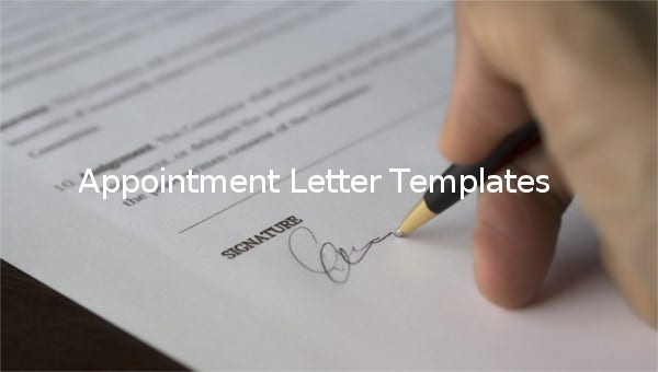 appointment letter templates