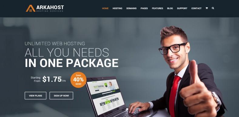 arka host responsive hosting template 788x386