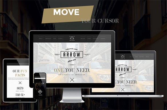 arrow responsive wordpress theme