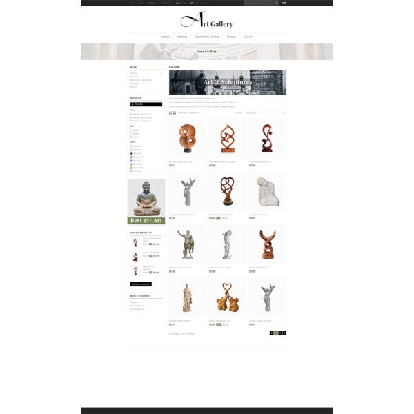 art gallery prestashop theme