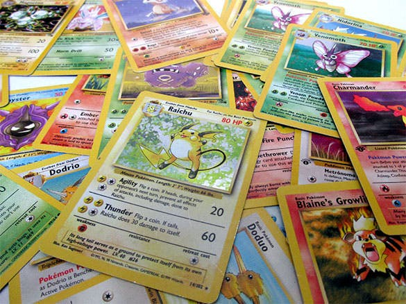 assorted pokemon card template